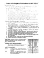 Lab Report -- General Formatting Guide - 2015