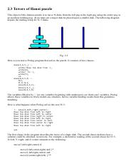 Problem 1 Towers of Hanoi puzzle