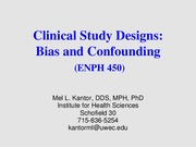 ENPH 450_Bias and Confounding_Complete File
