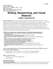 BSU FA11 English 102--Syllabus MWF