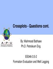 15 Crossplots - Questions cont'