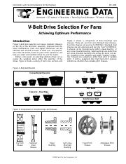 belt drive selection for fans