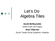 David_Let's Do Algebra Tiles