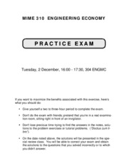 MIME 310 - Sample Final Exam