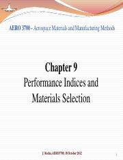 Chapter 9 - Performance Indices and Materials Selection