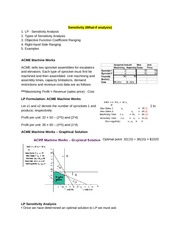 Lecture 2 Sensitivity Analysis