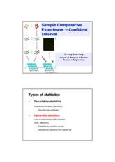 Chap 4a Sample Comparative Experiments - Confident interval SV