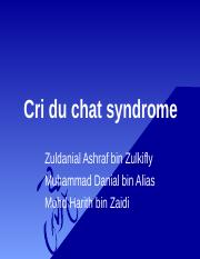 Cri du chat syndrome.ppt