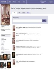 Facebook History project- the 2nd continental congress.ppt