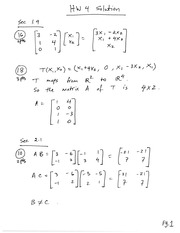 Homework 4 on Linear Algebra Fall 2014