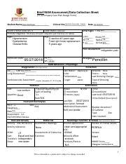 Geri Case study cardiac pdf - Brief RAM Assessment/Data Collection