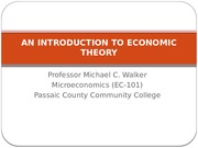 AN INTRODUCTION TO ECONOMIC THEORY Exam material