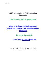 ACCT 212 Week 1 to 7 All Discussion Questions.docx