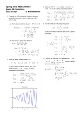 Exam 3 Version B Spring 2013 on Differential Equations