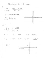 AP Calc Unit 2 Test Work