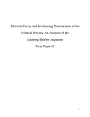 GOVT 1111 Term Paper 2 Voter Turnout