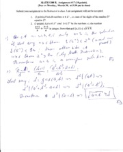 MATH 1200 Assignment 17 solutions
