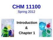 Lecture 1 CHM111 Student Slides
