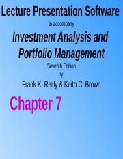 Investment analysis and portfolio management 7th edition pptp leklust kalmar investments