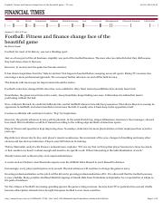 Football  Fitness and finance change face of the beautiful game - FT.com.pdf