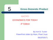ECO210 - Chapter 5 - Gross Domestic Product