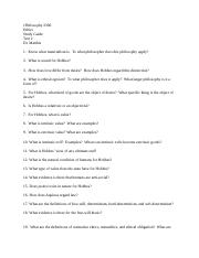 Ethics Study questions 2