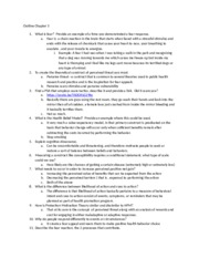 HTW 302 Chapter 5 Outline