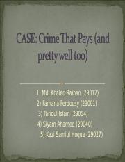 Crime that pays ( and Pretty Well Too).ppt