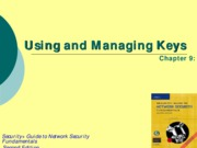 Ch09 - Using and Managing Keys