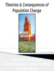 GEOG 1HA3 - Fall 2016 - Lecture 07 - Population III - Theories & Consequences of Population Change -