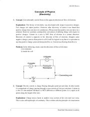 Electricity Notes for IGCSE pdf - IGCSE Physics Concepts of Physics