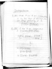 class notes- independence
