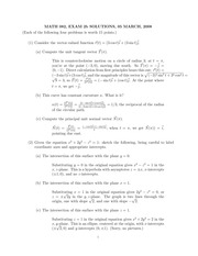 MATH 082 Spring 2008 Midterm 2 Version 2 Solutions