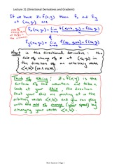 Lecture 31 (Directional Derivatives and Gradient)