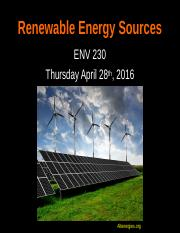 3) Lecture_22_Renewable Energy