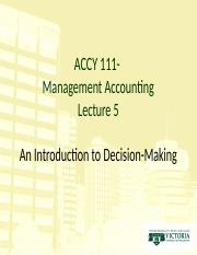 ACCY 111 RJD Lecture 5