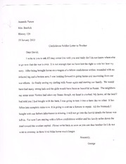HIS 120 Letters Essay
