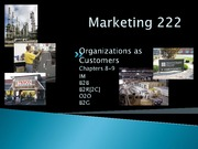 Lecture 12 - Organizational Buyer Behaviour