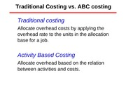 Lecture 18 Activity-based costing