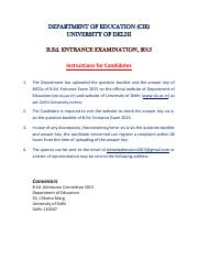 B.Ed.Questionpaper&Answerkeys2015