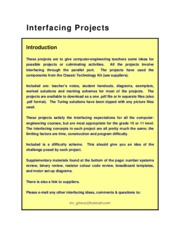 Interfacing Project Ideas