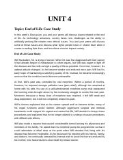 Unit 4 - Discussion - End of Life Case Study.docx