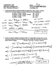 CHEM1008 HW2- Hess & H formation-Solutions