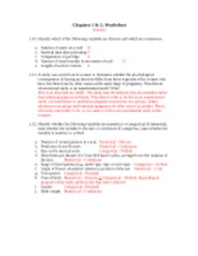 Ch 1&2 worksheet answers