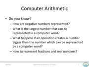 ComputerArithmetic