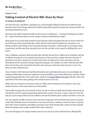 Johnston_Taking Control of Electric Bill, Hour by Hour - NY Times