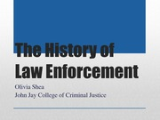 Brief History of Law Enforcement