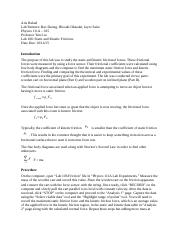 Physics 111A - Lab 106