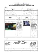 HUM 100 Worksheet Realism, Impressionism, and the Modern World (5).docx
