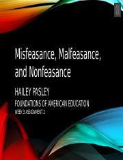 misfeasance malfeasance